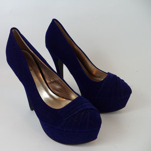 Qupid Royal Blue Stiletto Pumps 8.5 CL1053 0619